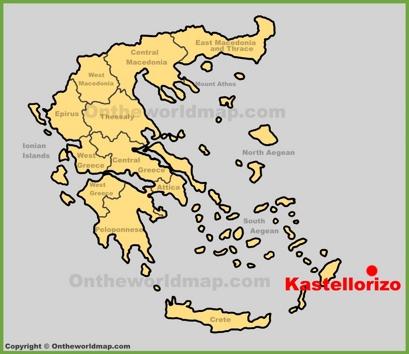 Kastellorizo Location Map