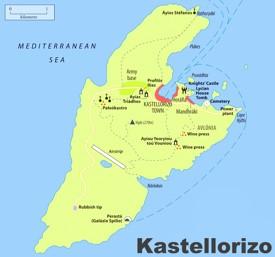 Kastellorizo sightseeing map