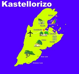 Kastellorizo tourist map