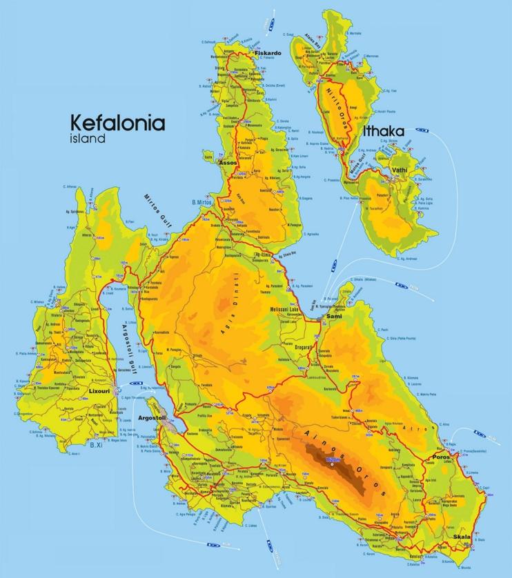 Kefalonia tourist map
