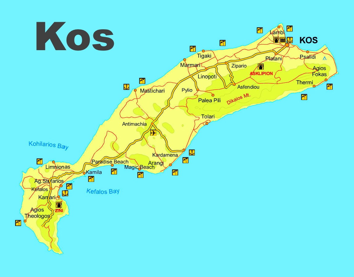 Kos Maps Greece Maps of Kos Island Cos