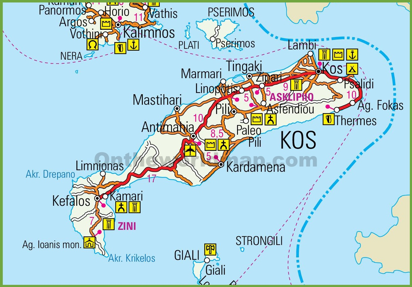 Kos road map
