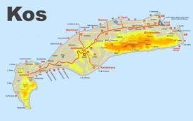 Kos sightseeing map