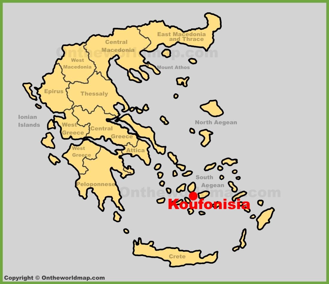 Koufonisia location on the Greece map
