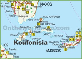 Koufonisia tourist map