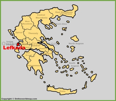 Lefkada Location Map