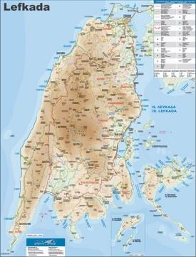 Lefkada tourist map