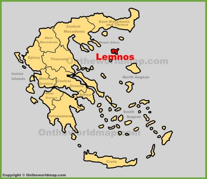 Lemnos Location Map