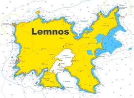 Lemnos tourist map