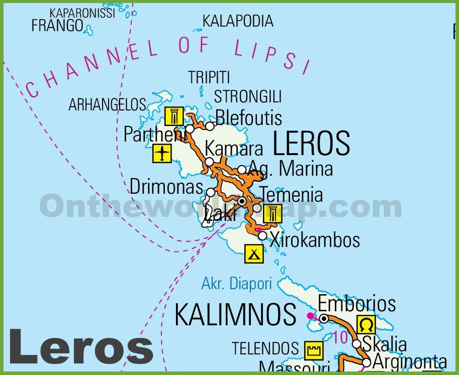 Leros Maps Greece Maps of Leros Island