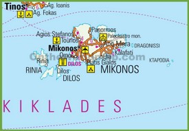 Mykonos road map