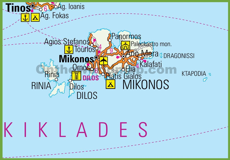 Mykonos road map