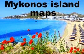 Mykonos island maps