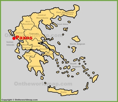Paxos Location Map