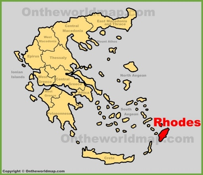Rhodes Location Map