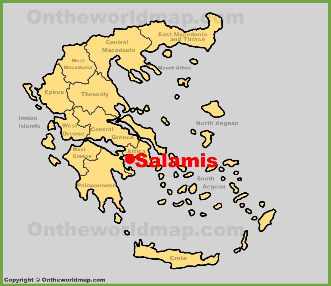 Salamis Maps Greece Maps Of Salamis Island