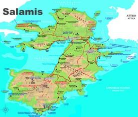 Salamis tourist map