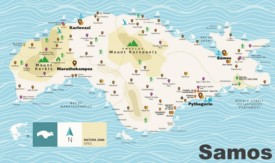 Samos tourist map