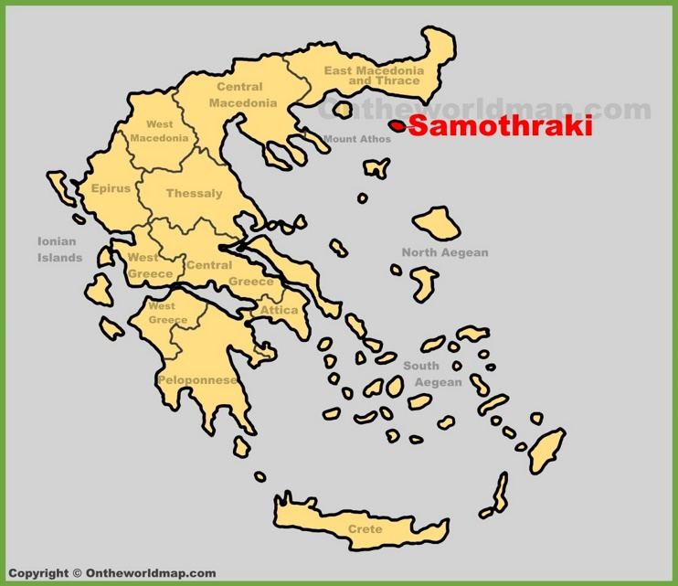 Samothraki location on the Greece map