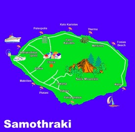 Samothraki tourist map