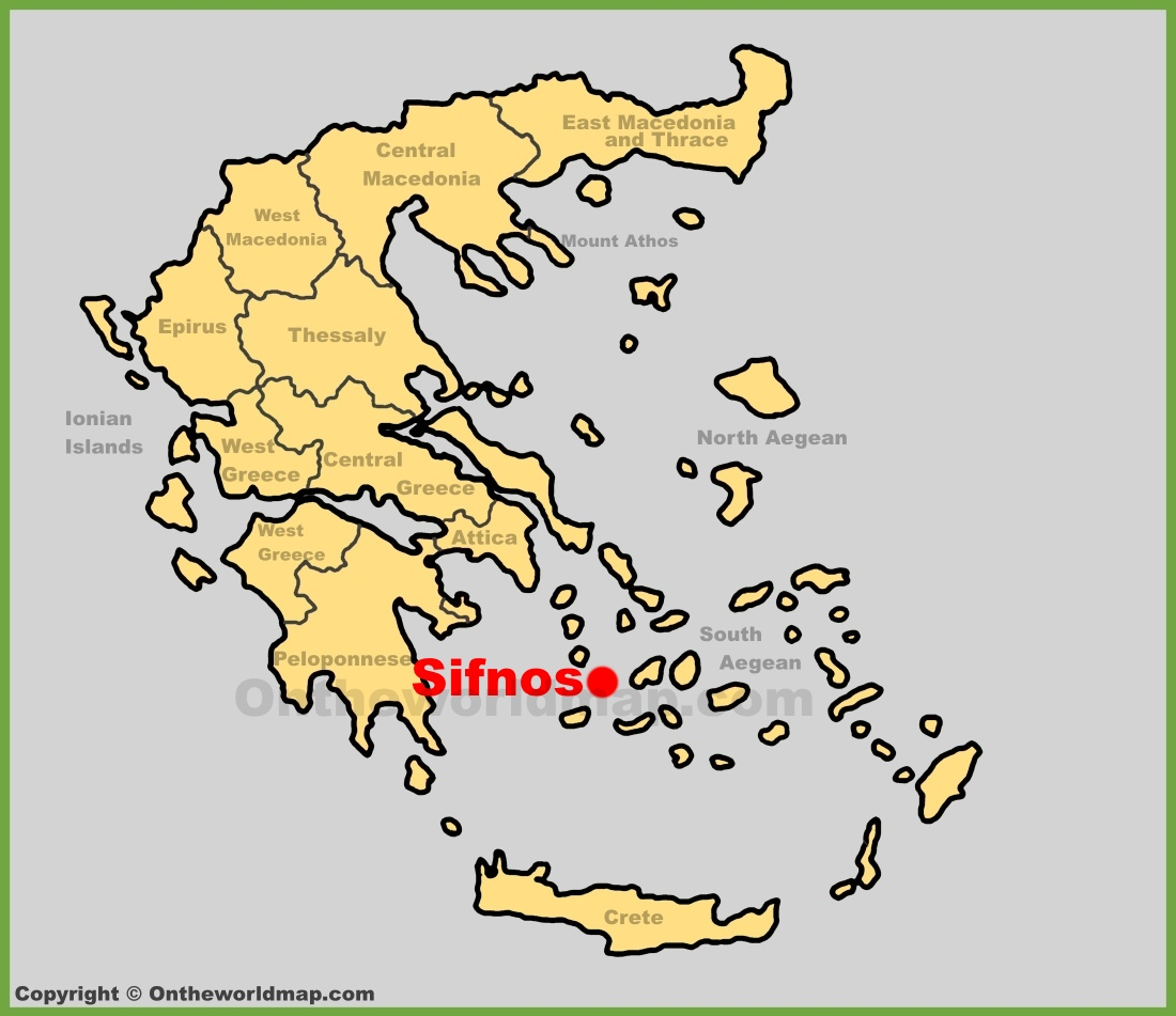 Sifnos Location On The Greece Map