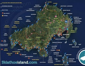 Skiathos tourist map