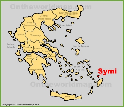 Symi Location Map