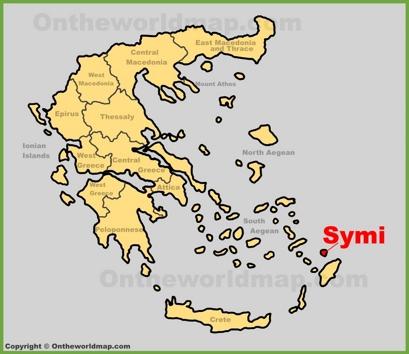 Symi Location Map
