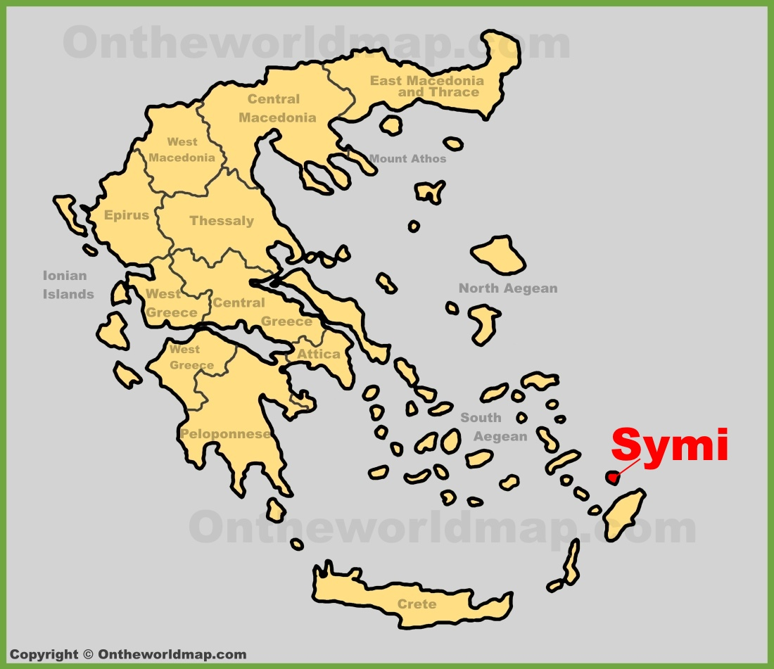 Symi location on the Greece map