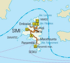 Symi road map