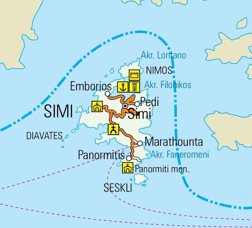 Symi Maps Greece Maps of Symi Island