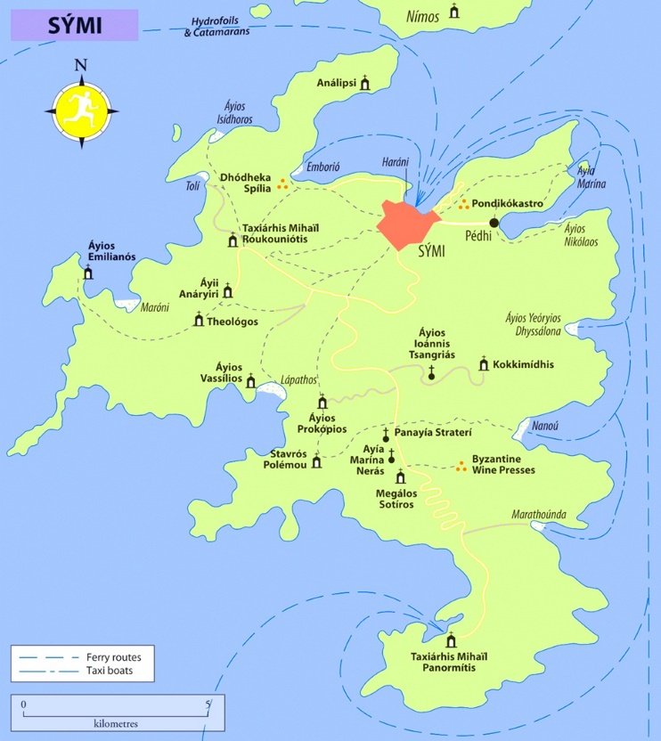 Symi tourist map
