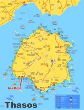 Thasos sightseeing map