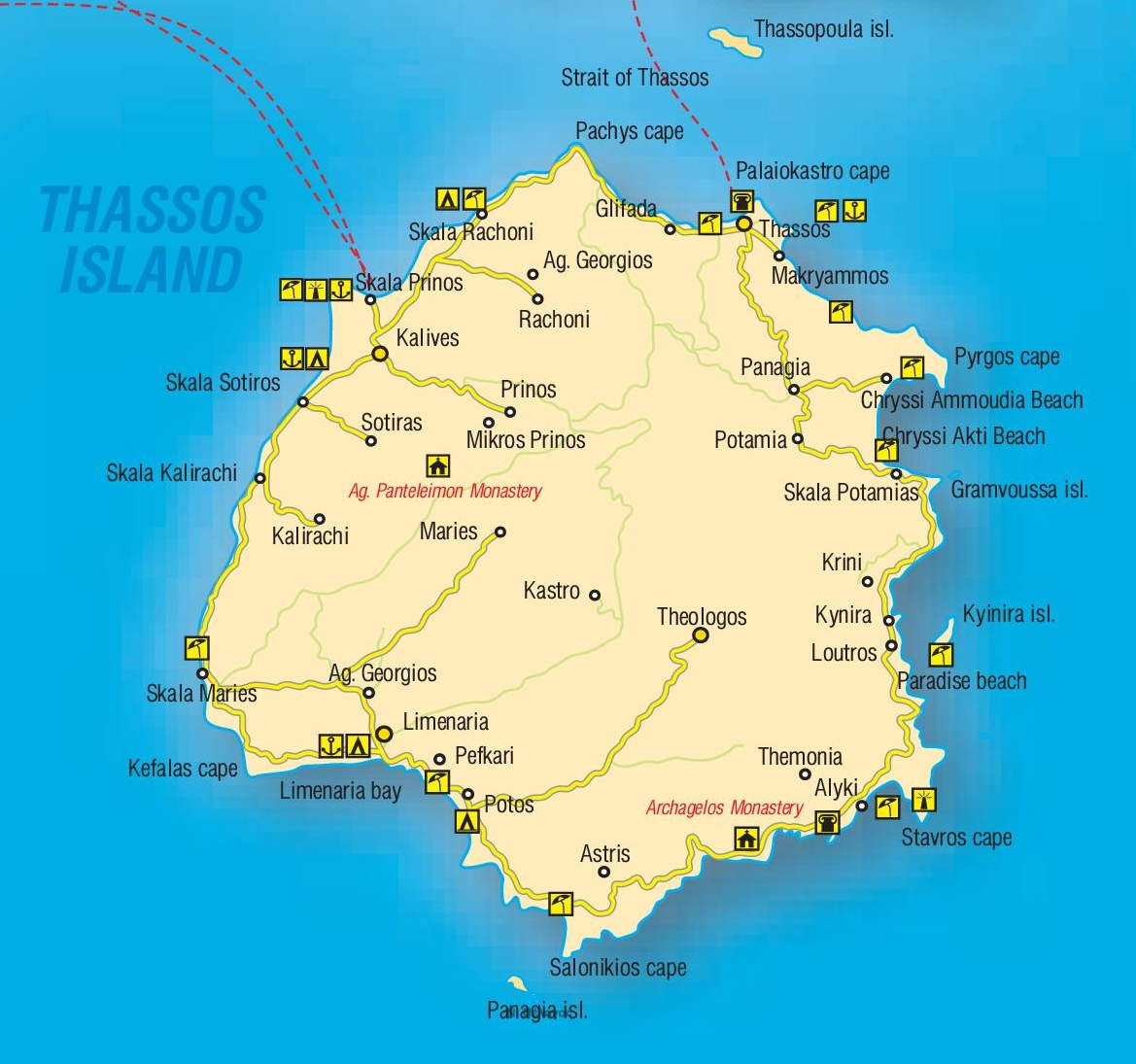 Thasos Maps Greece Maps of Thasos Island Thassos