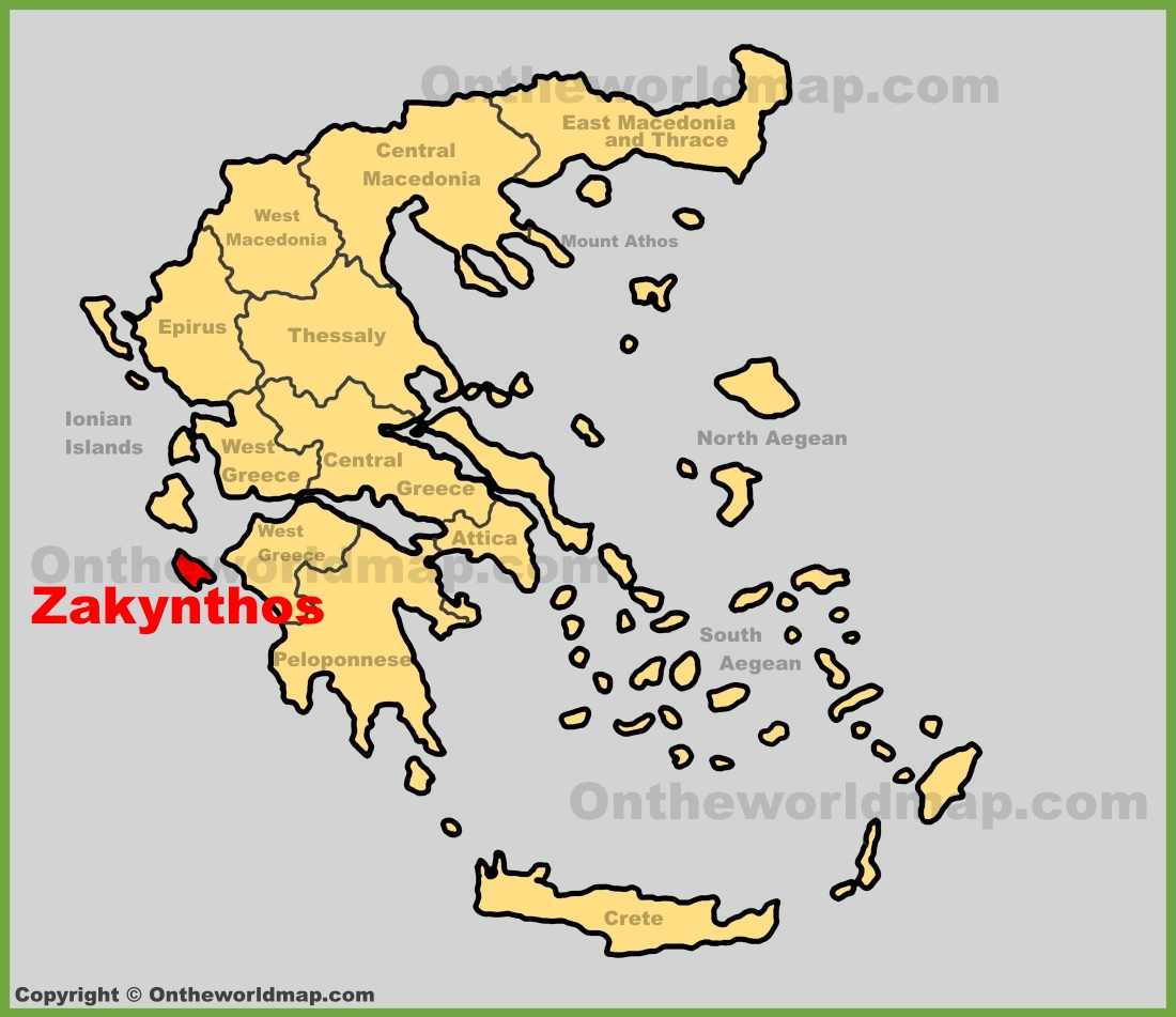 Zakynthos location on the greece map zakynthos location on the greece map gumiabroncs Images