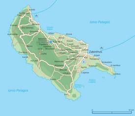 Zakynthos road map