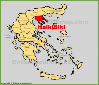 Halkidiki Location Map
