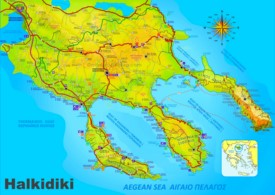 Halkidiki tourist map