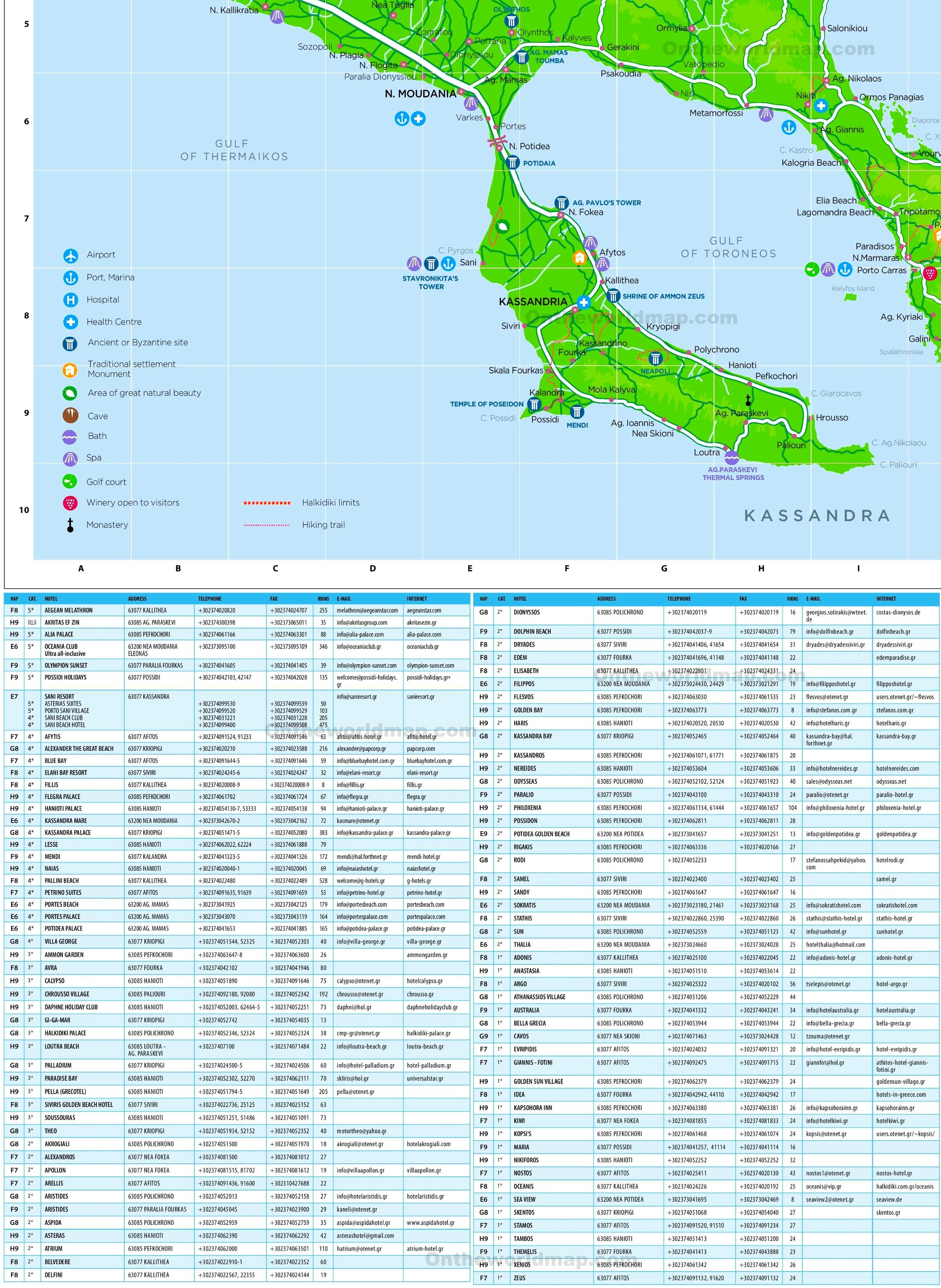 Kasandra Mapa Svet Putovanja