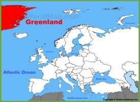 Greenland location on the Europe map