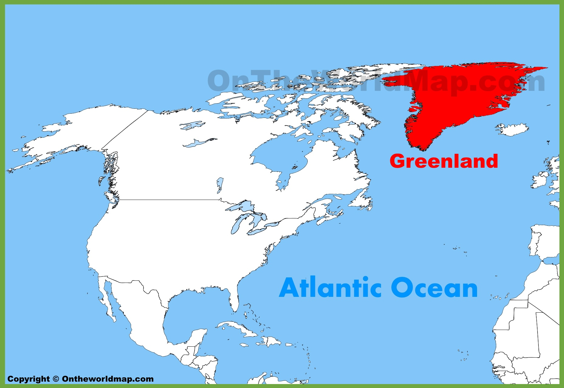 Greenland location on the north america map greenland location on the north america map gumiabroncs Image collections
