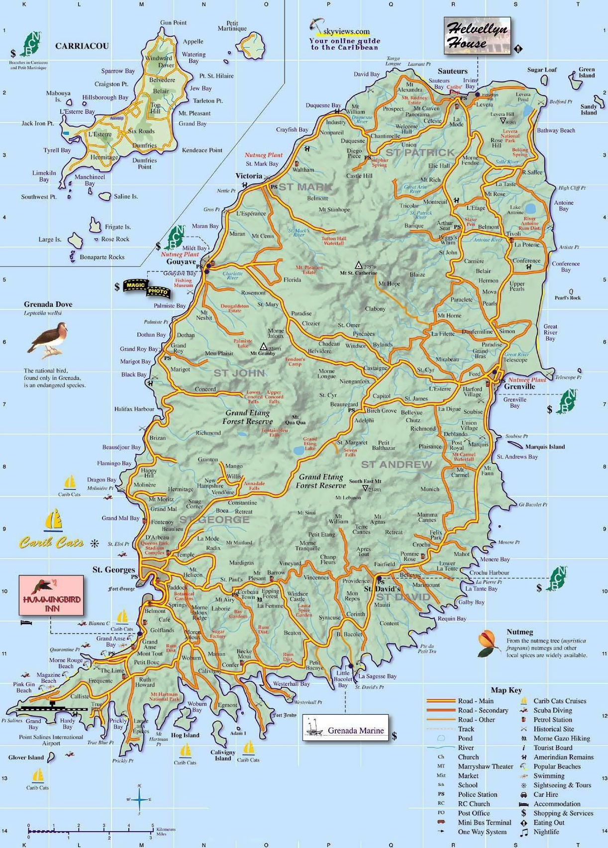 Map Of Grenada Large detailed map of Grenada