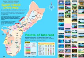 Guam tourist map
