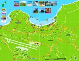 Tamuning and Dededo tourist map