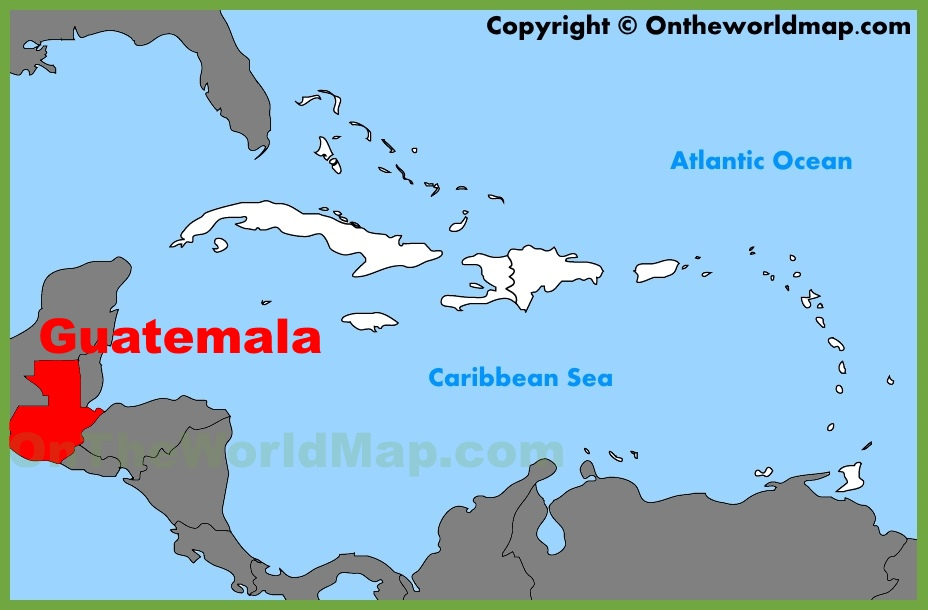 Guatemala location on the Caribbean map