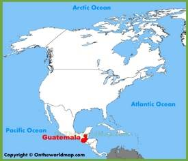 Guatemala location on the North America map