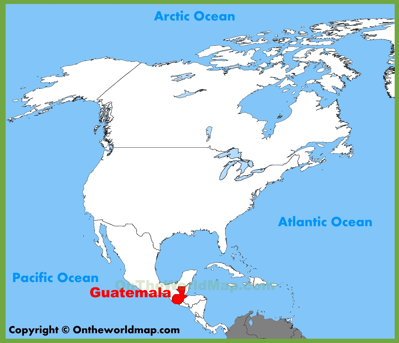 Where Is Guatemala On The Map Guatemala location on the North America map Where Is Guatemala On The Map