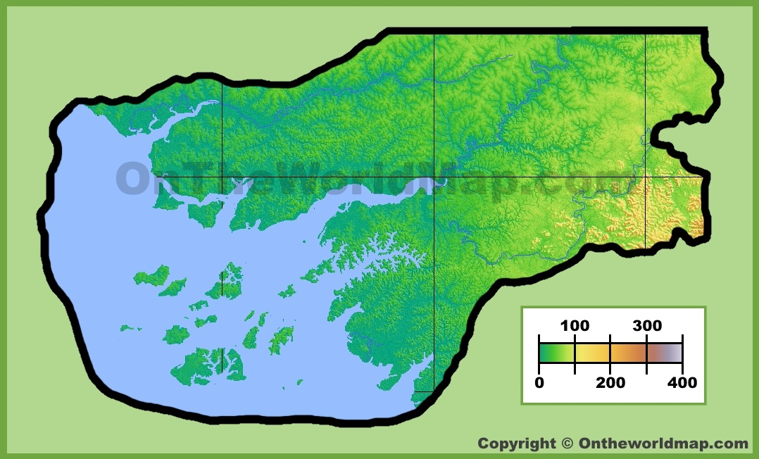 GuineaBissau physical map