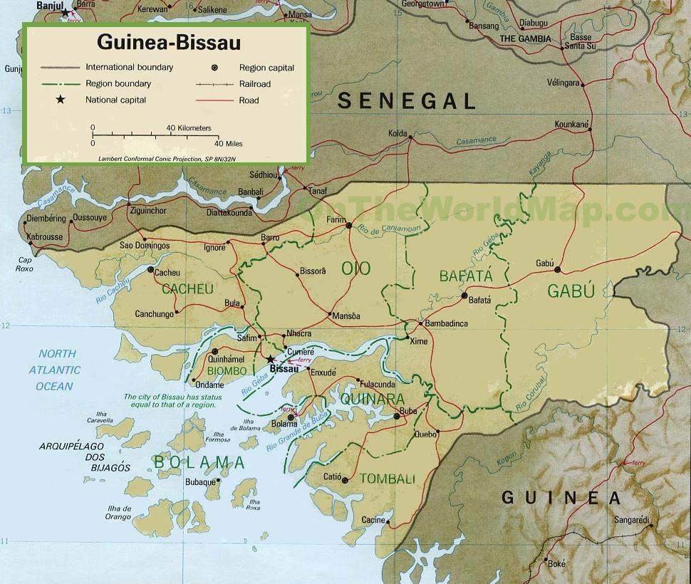 GuineaBissau political map