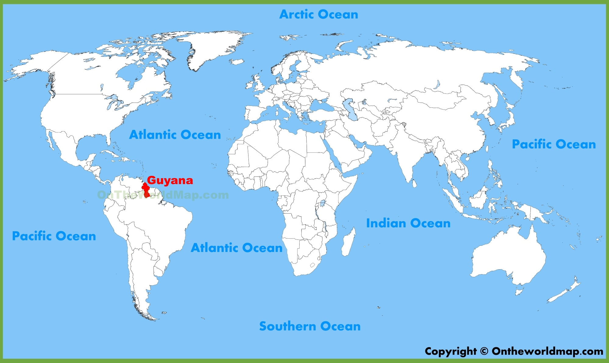 Where Is Guyana Located On The World Map.Guyana Location On The World Map